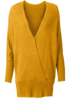Пуловер с эффектом запаха (медовый) Bonprix