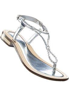 Кожаные сандалии (серебристый) Bonprix