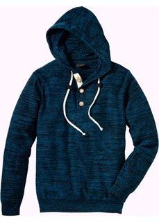 Пуловер Slim Fit (серо-синий меланж) Bonprix