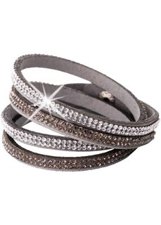 Многорядный браслет для обертывания вокруг запястья (серый) Bonprix