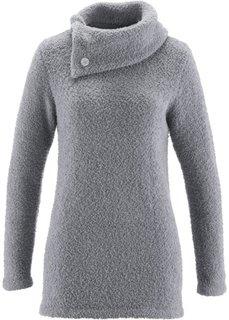 Пушистый пуловер (серый) Bonprix