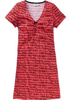 Ночная сорочка (омаровый с рисунком) Bonprix