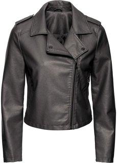 Байкерская куртка с металлическим отливом (антрацитовый металлик) Bonprix