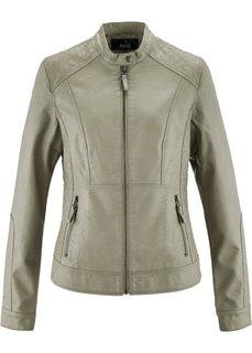 Куртка из искусственной кожи (хаки) Bonprix