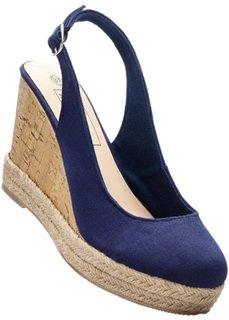 Туфли на танкетке (темно-синий) Bonprix