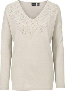 Пуловер (бежевый) Bonprix