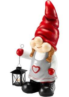 Декоративная фигурка Елена с фонарем (красный/черный/серый) Bonprix