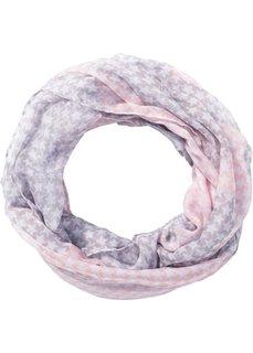 Шарф-снуд со звездами (розовый/светло-серый) Bonprix
