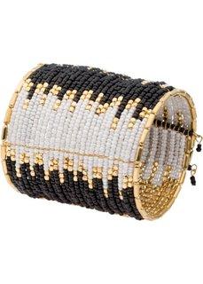 Разноцветный браслет (черный/белый/золотистый) Bonprix