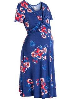 Для будущих мам: платье с функцией кормления (ночная синь с рисунком) Bonprix