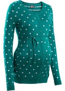 Мода для беременных: кардиган в горошек (темно-изумрудный в горошек) Bonprix