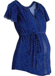 Для будущих мам: блузка (ночная синь/цвет белой шерсти в горошек) Bonprix