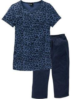 Пижама-капри (индиго с рисунком) Bonprix