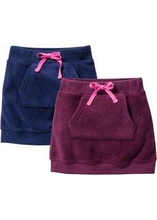 Флисовая юбка (2 шт.) (красная ягода + ночная синь) Bonprix