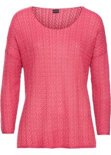 Летний пуловер (ярко-розовый матовый) Bonprix