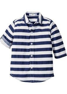 Рубашка в поперечную полоску (ночная синь/белый в полоску) Bonprix