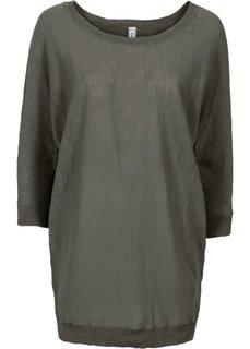 Пуловер в стиле оверсайз (темно-оливковый) Bonprix