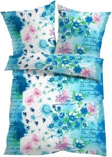Постельное белье Марта, линон (синий) Bonprix