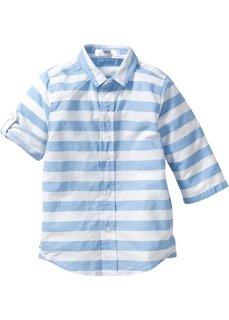 Рубашка в поперечную полоску (нежно-голубой/белый в полоску) Bonprix