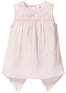 Жатая блузка (нежно-розовый) Bonprix