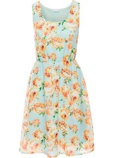 Летнее платье (мятный в цветочек) Bonprix