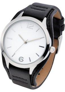 Классические наручные часы (черный/серебристый) Bonprix