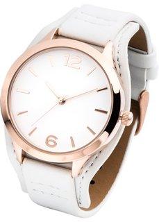 Классические наручные часы (белый/розово-золотистый) Bonprix