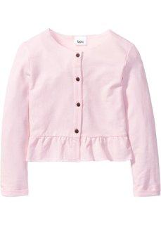 Кардиган с рюшами (нежно-розовый) Bonprix