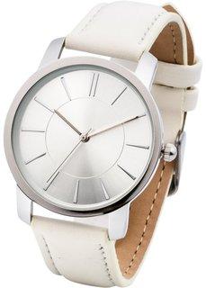 Часы на классическом браслете (бежевый) Bonprix