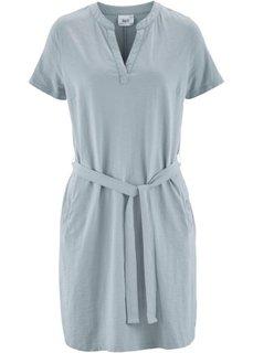 Трикотажное платье с рукавом 1/2 (серебристо-серый) Bonprix