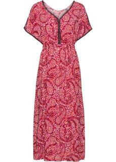 Макси-платье (красный в цветочек) Bonprix
