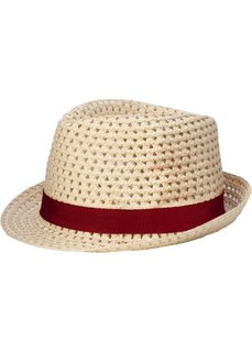 Шляпа с лентой (натуральный/бордовый) Bonprix