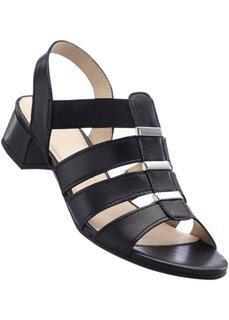 Кожаные сандалии (полнота стопы: G) (черный) Bonprix