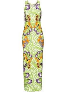 Платье с ярким рисунком (зеленый) Bonprix