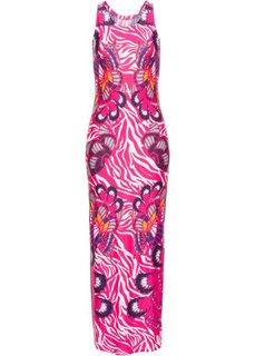 Платье с ярким рисунком (розовый) Bonprix