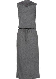 Трикотажное платье (антрацитовый/черный меланж) Bonprix