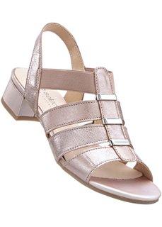 Кожаные сандалии (полнота стопы: G) (серебристый) Bonprix