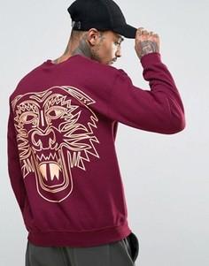 Oversize-свитер с тигром на спине HNR LDN - Красный Honour