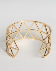 Браслет-манжета с геометрическим дизайном Nylon - Золотой