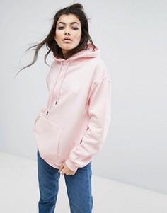Oversize-худи с вышитым логотипом спереди Wasted Paris - Розовый