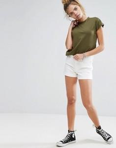 Джинсовые шорты с подвернутым краем Noisy May - Белый