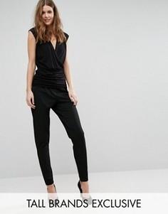 Строгие прямые брюки Y.A.S Tall - Черный