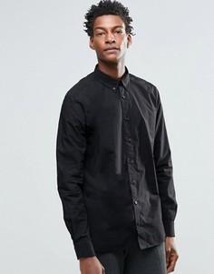 Рубашка с воротником на пуговицах YMC - Темно-синий