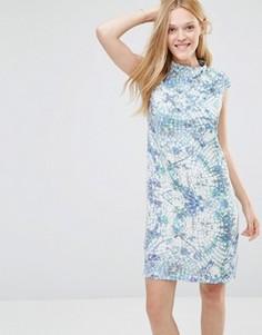 Мягкое платье с геометрическим принтом Y.A.S - Мульти