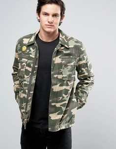 Куртка с нашивками в стиле милитари Jack & Jones Originals - Зеленый