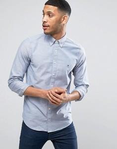 Эластичная узкая оксфордская рубашка на пуговицах Tommy Hilfiger - Темно-синий