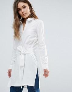 Длинная рубашка с завязками Vero Moda - Белый
