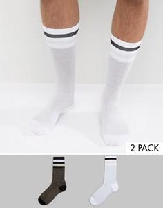 2 пары носков в спортивном стиле с блестками ASOS - Мульти