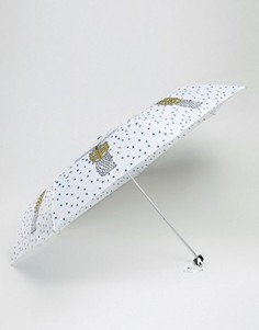 Оригинальный зонт с пальмами Monki - Белый