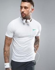 Белая спортивная футболка из ткани Dri-FIT от Nike 839518-100 - Белый